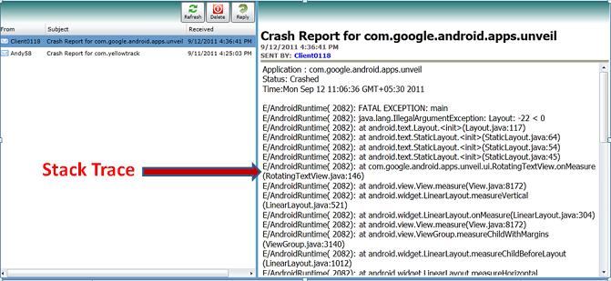 Crash Report in SureMDM