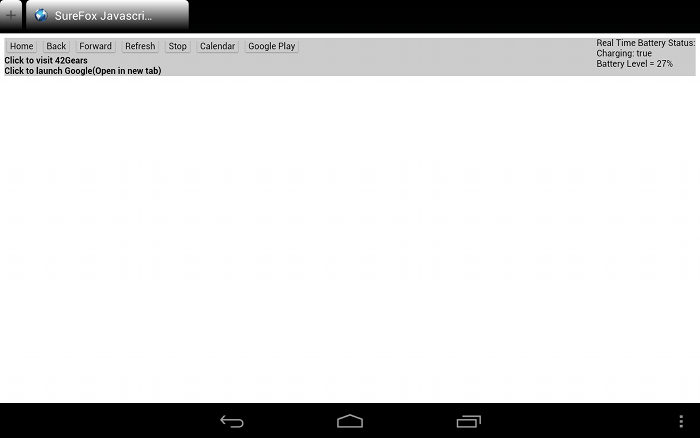 SureFox Javascript API Demo page