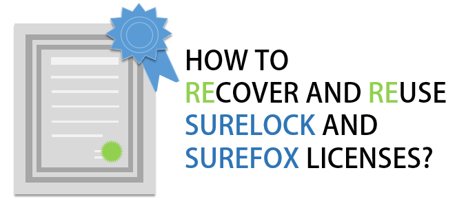 How to recover and reuse SureLock and SureFox licenses?