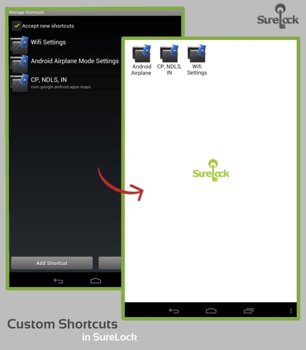 Custom Shortcuts in SureLock