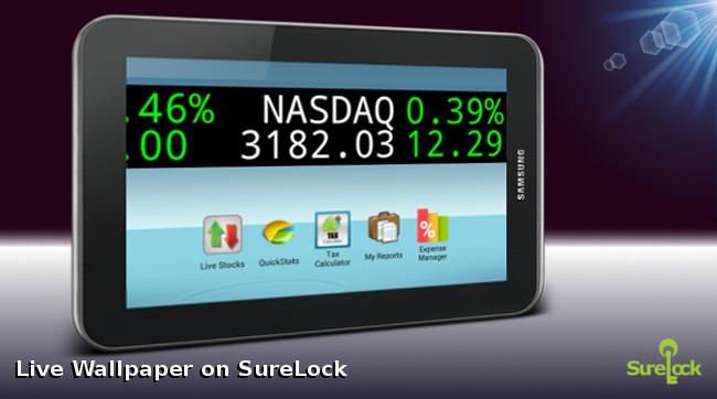 SureLock with Stock Ticker Live Wallpaper