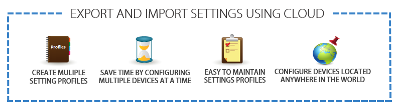 cloud import or export settings