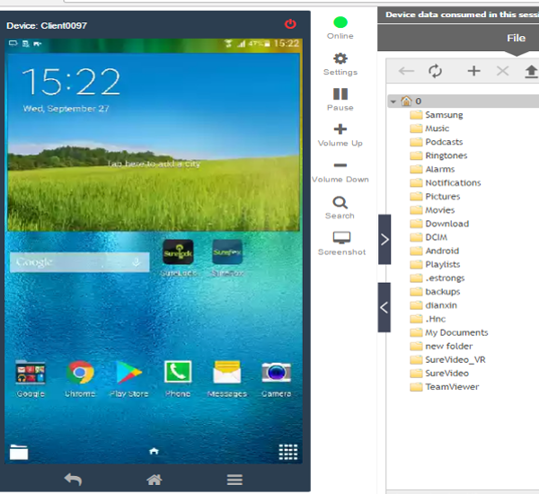 Remote Screen Capture for Android devices with SureMDM - 42Gears