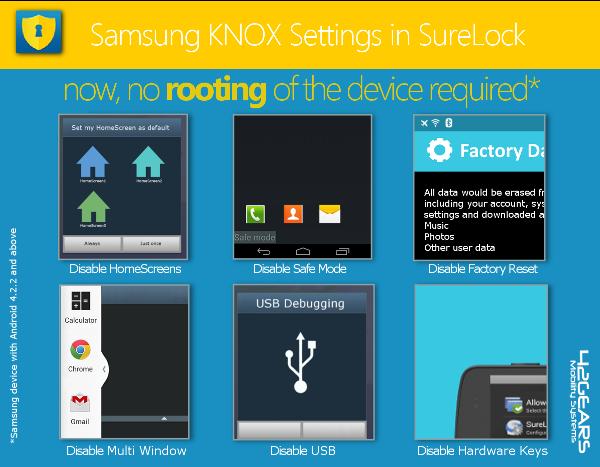 Samsung KNOX Settings in SureLock