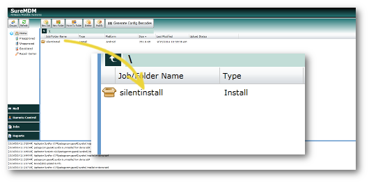 suremdm_choose_silent_install_job