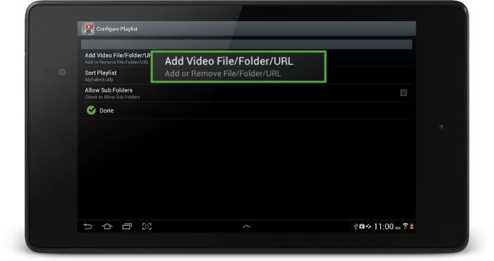 surevideo_configure_playlist