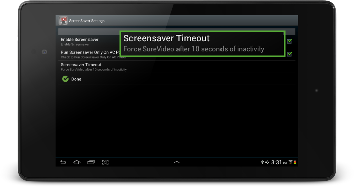 surevideo_screensaver_timeout