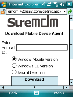 Get Started with SureMDM - Windows Mobile & CE