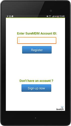 suremdm-account-id-screen