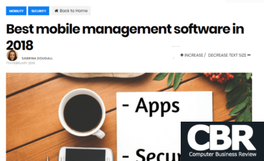CBR - Best mobile management software in 2018