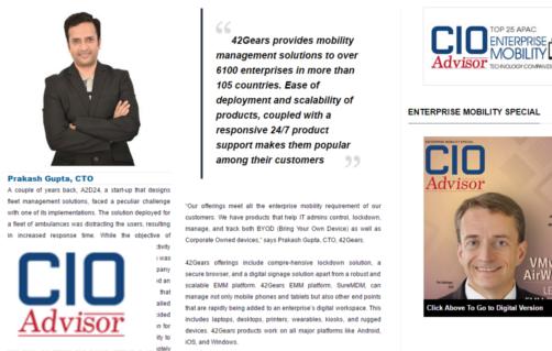 CIO-Advisor - Growing EMM Solution Provider