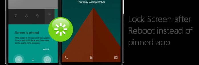 Lock Screen after Reboot