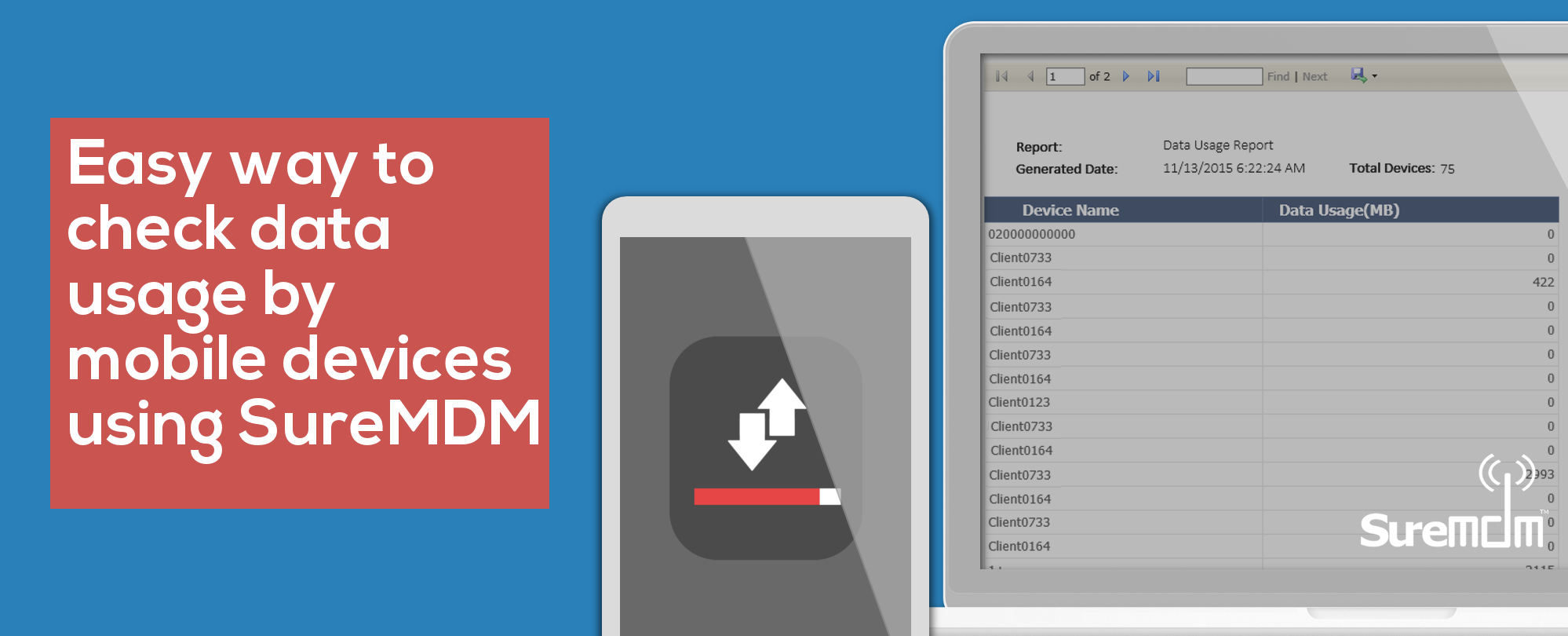 Data Usage Mobile Devices - SureMDM