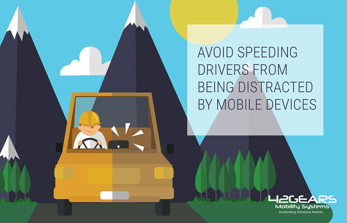 Speeding drivers and mobile devices distraction