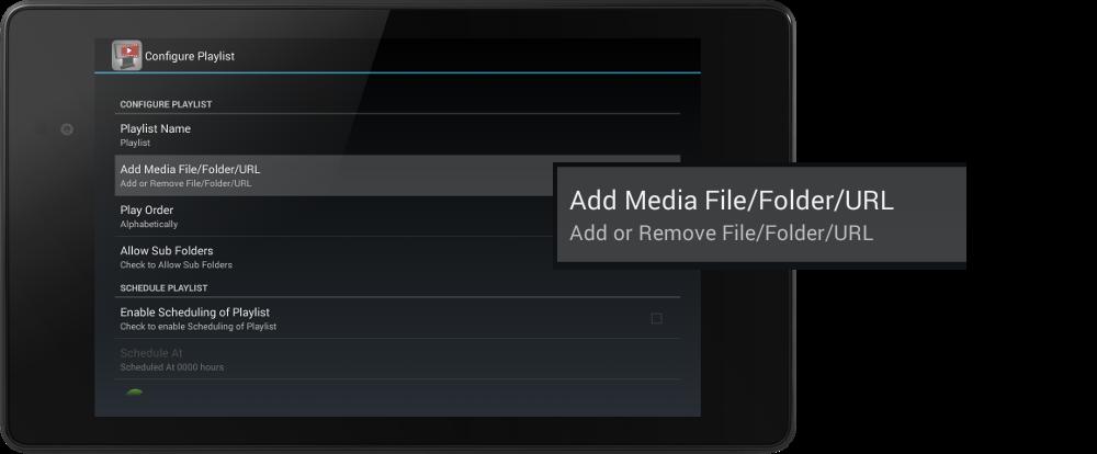 Stream YouTube Videos - add-media-file-folder-url
