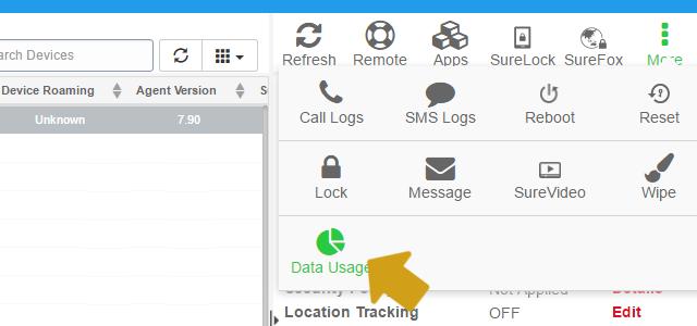 suremdm-data-usage