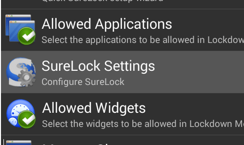Disable Hardware Buttons Android devices - SureLock Settings