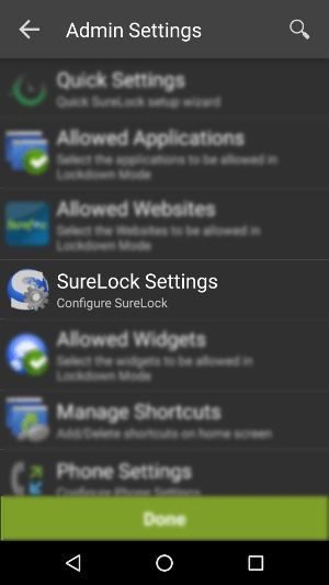 SureLock Settings - How to Disable Hardware Buttons on Android Devices Using SureLock