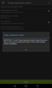 single application mode