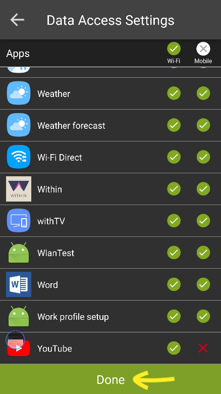 Block WiFi or Mobile Data for Specific Apps with SureLock