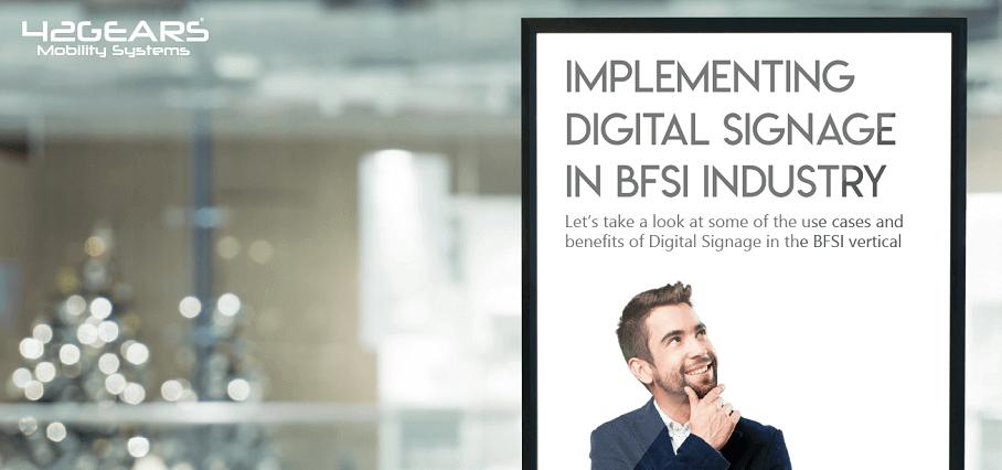 Digital Signage in BFSI