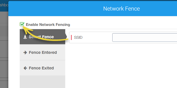 On Network Fence prompt, select and enable Enable Network Fencing option