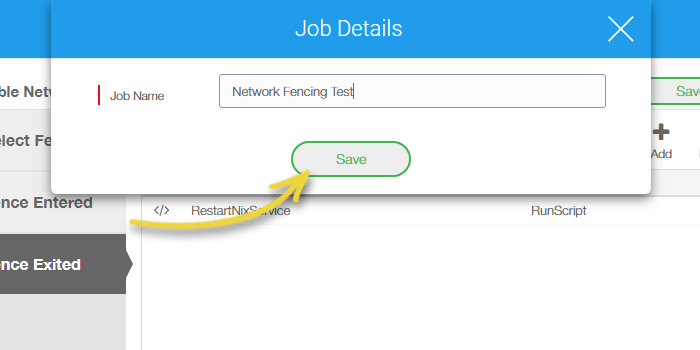 Click Save to give a name and save to job