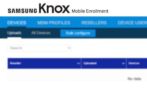 Knox Mobile Enrollment | Mass Enrollment in SureMDM |