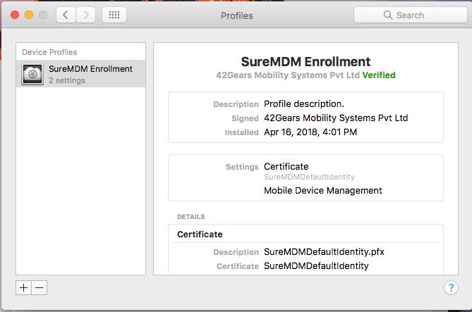 SureMDM Nix Agent .pkg file is downloaded