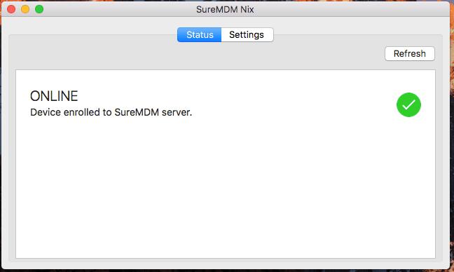 SureMDM Nix Screen Status