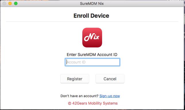 enter SureMDM Account ID.