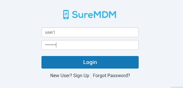 SureMDM Custom Nix Agent - Login to SureMDM
