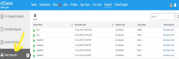 Third-Party App Analytics Reporting in 42Gears UEM - Go to View Reports