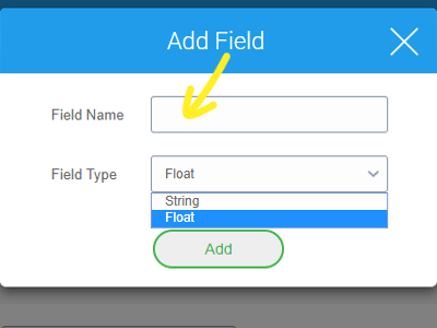 Third-Party App Analytics Reporting in 42Gears UEM - select the desired Field Name and Field Type