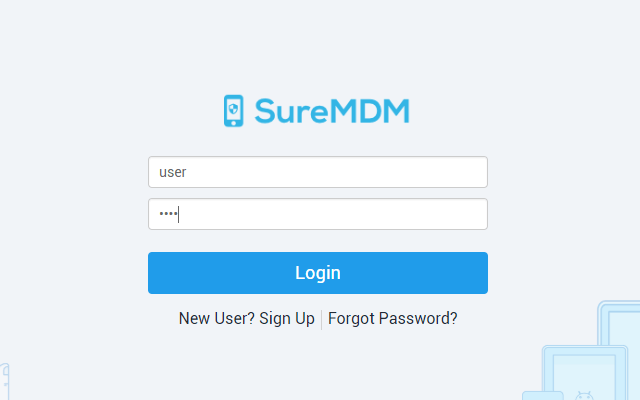 How to Activate SureLock, SureFox and SureVideo Licenses from SureMDM - Login to SureMDM Web Console