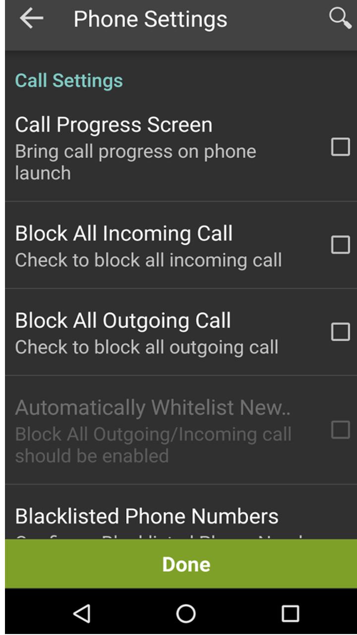 Call Settings