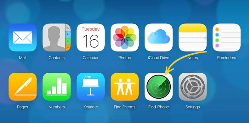 How to find lost iOS devices with MDM - Login to iCloud account