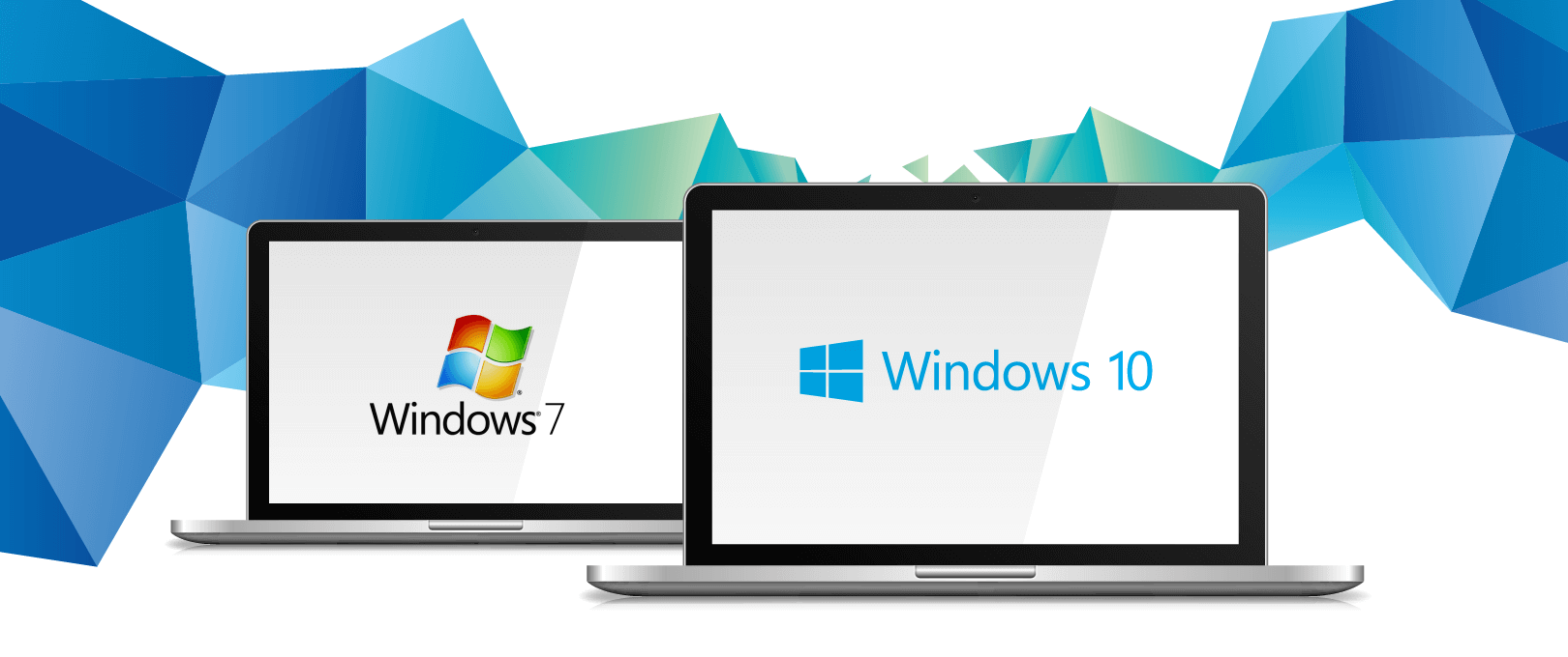 Windows 7 Windows 10 Transition Banner