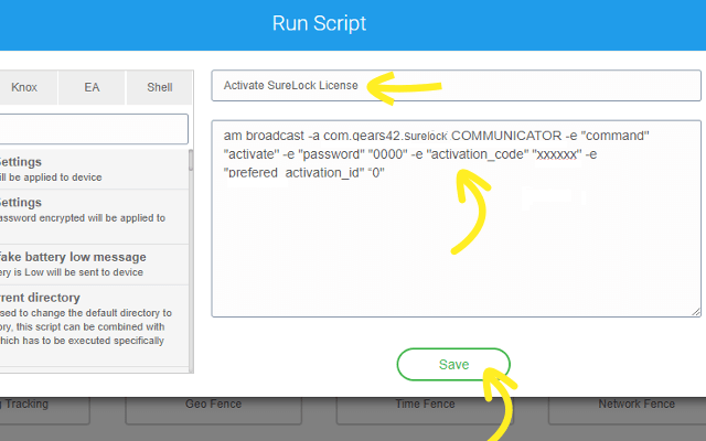 How to Activate SureLock, SureFox and SureVideo Licenses from SureMDM - New Run Script