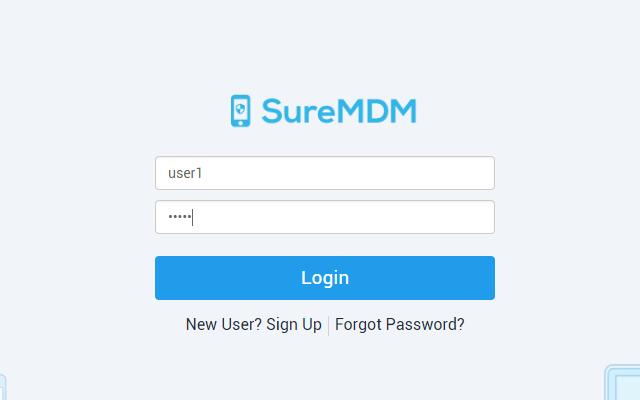 Make User Management Easy with SureMDM- Login