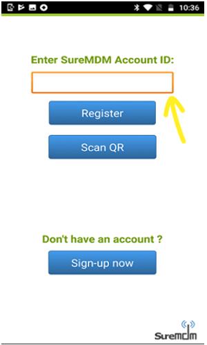 SureMDM Account ID