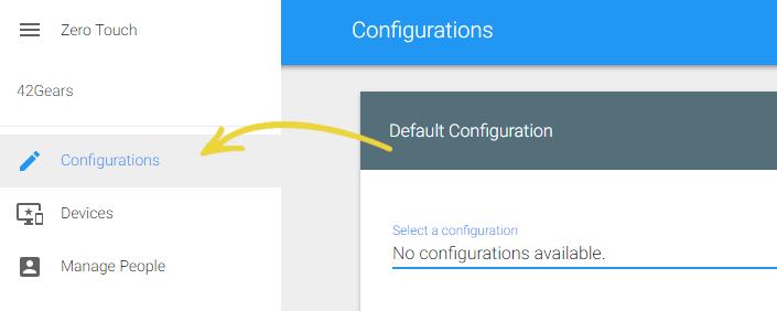 Zero Touch Enrollment in SureMDM - Configurations