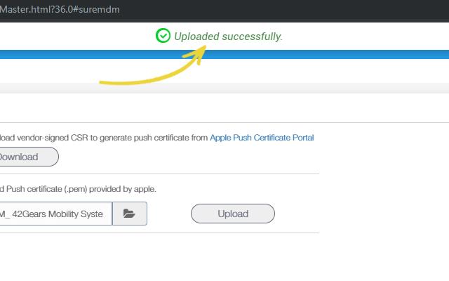 APNs Certificate | Apple Devices Management | 42Gears UEM |