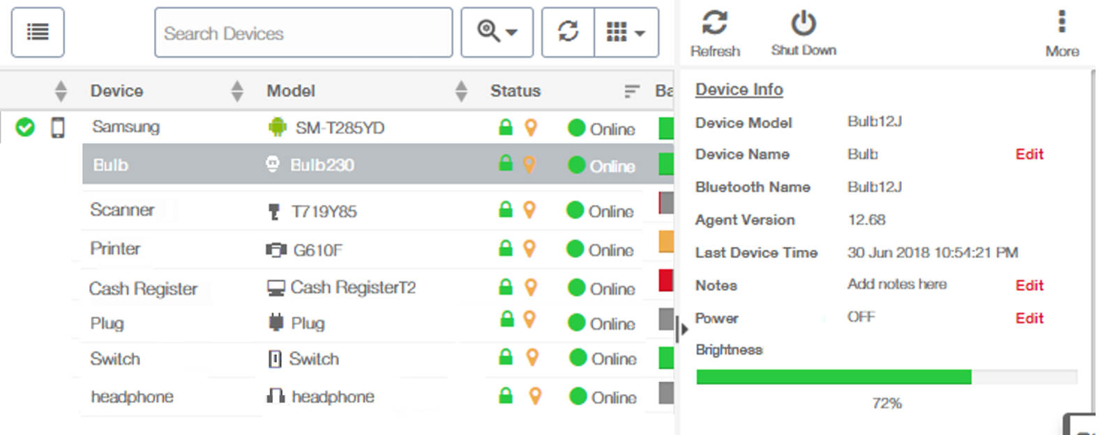 IoT Devices - 42Gears UEM Web Console