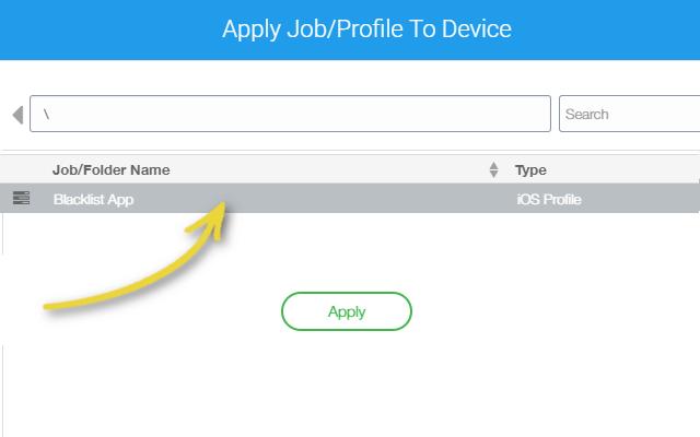 Manage Apple Watch with 42Gears UEM - Apply Blacklist Profile