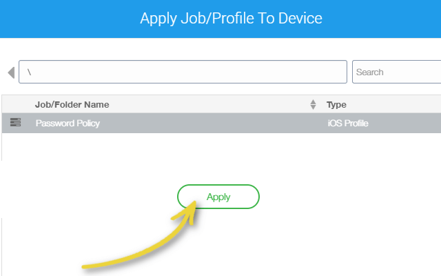Manage Apple Watch with 42Gears UEM - Apply Job_Profile To Device