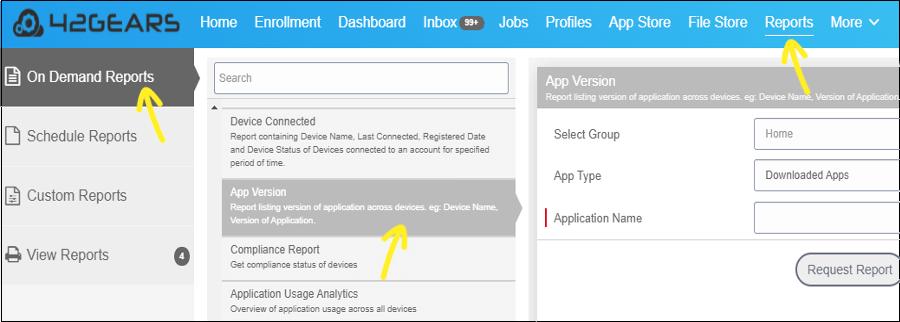 Select App Version Report