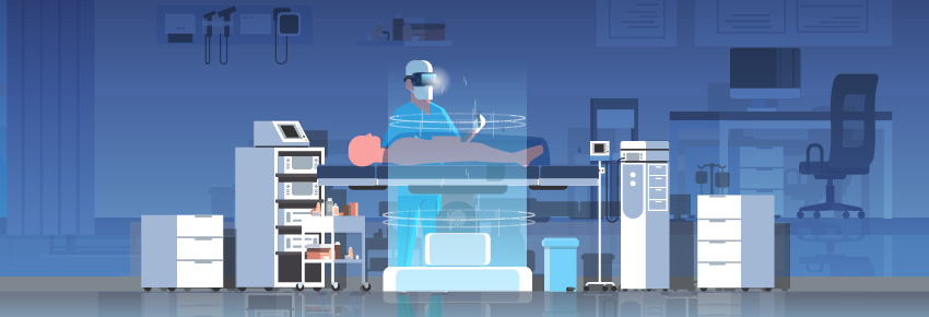 Do Surgeons Use VR? Learn how virtual reality can help train surgeons, like the one in this picture. But VR in healthcare, or VR in medicine, needs high-quality virtual reality management.