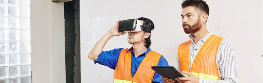 Manufacturing worker using wearables